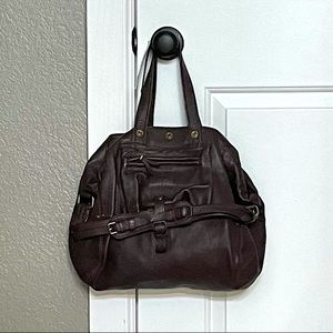 """*NWT* JEROME DREYFUSS """"BILLY"""" MAROON LEATHER BAG"""